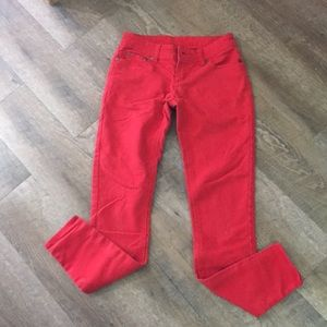 Rue 21 Red Skinny Jeans